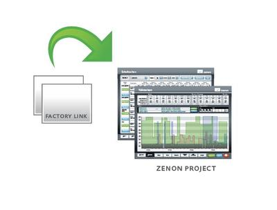 Simple switch from FactoryLink to zenon SCADA: Wizard