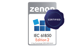 New certification: zenon conforms to IEC 61850 Edition 2